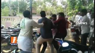 TDP workers Clash in Coordination Committee Meeting at guntakal | Anantapur | iNews