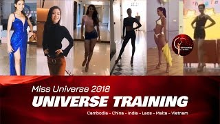 Miss Universe 2018 - Universe Training 1 (Cambodia, China, India, Laos, Malta & Vietnam)
