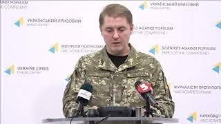 Col. Oleksandr Motuzyanyk, Ministry of Defense of Ukraine spokesperson. UCMC 15.10.2017