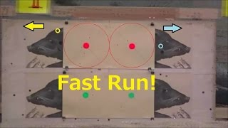ランニングターゲット射撃の練習:FAST RUN (practice of Running Target shooting)