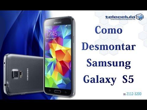 Como desmontar o  Samsung Galaxy S5 Sm G900 - TELECELULA