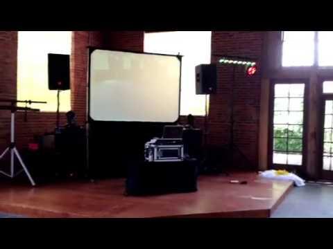 DJ setup Best Carolina DJ with projector and screen
