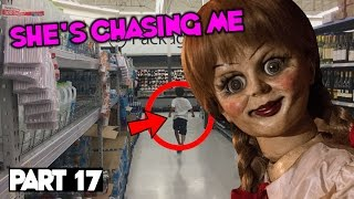 Evil Doll Annabelle mailed to us FREAKS US OUT and haunts us like a SCARY CLOWN - Part 17