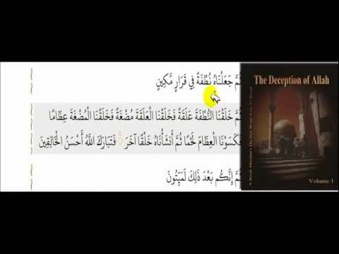 Muhammad DEBUNKS embryology miracle in Quran. Says both thumma AND fa equals 40 days