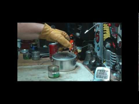 Is this possibly the lightest, easiest DIY alcohol stove? Boil Test 1