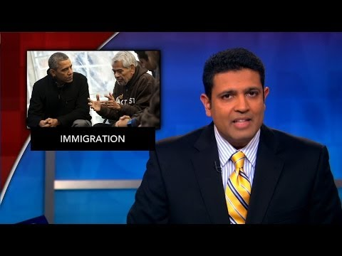 News Wrap: Obama visits immigration protesters