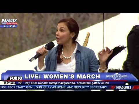 """NASTY WOMAN POEM: Ashley Judd Performs Her """"Nasty"""" Poem At Women's March DC"""