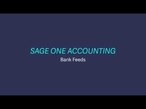 Sage Business Cloud Accounting (formerly Sage One) UK - Set up bank feeds
