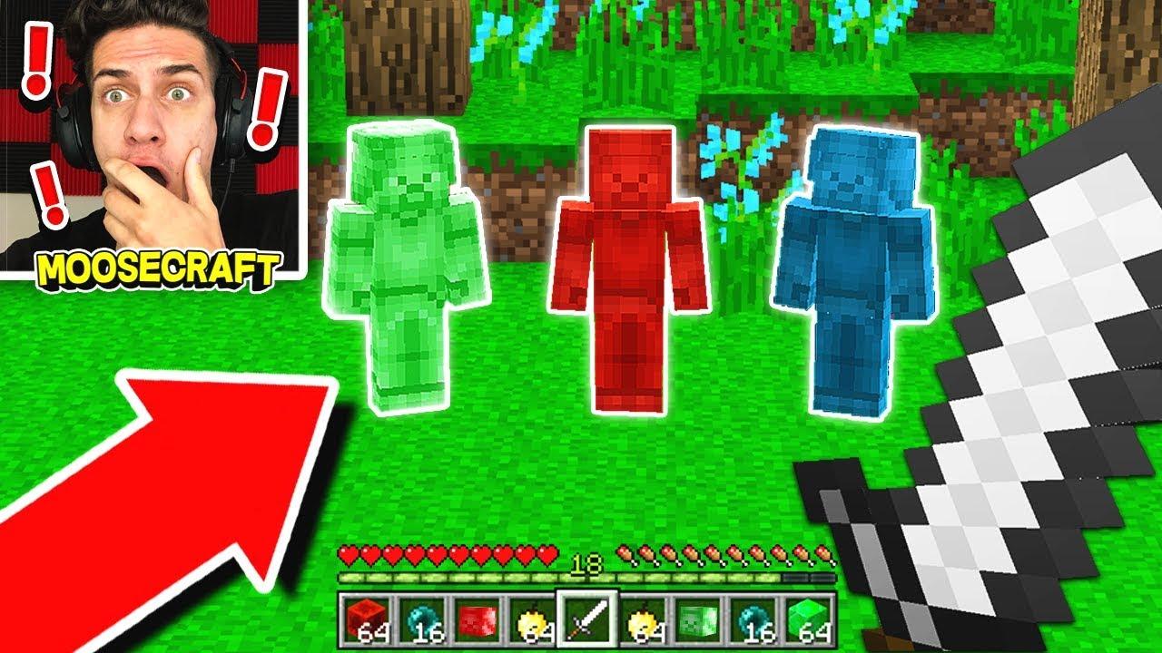 BLUE VS GREEN VS RED STEVE IN MINECRAFT! *NOT CLICKBAIT*