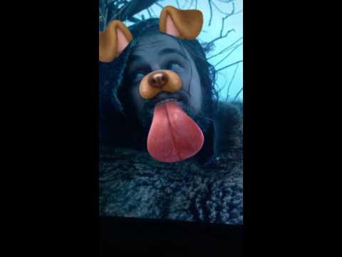 The Revenant Snapchat Dog Lens - Leonaro Dicaprio