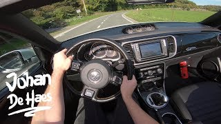 VW Beetle Cabrio Dune 1.4 TSI 150 hp POV test drive