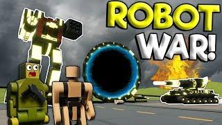 MASSIVE ROBOT WAR & END OF BOB?! - Brick Rigs Roleplay Gameplay - Lego City Normal Bob