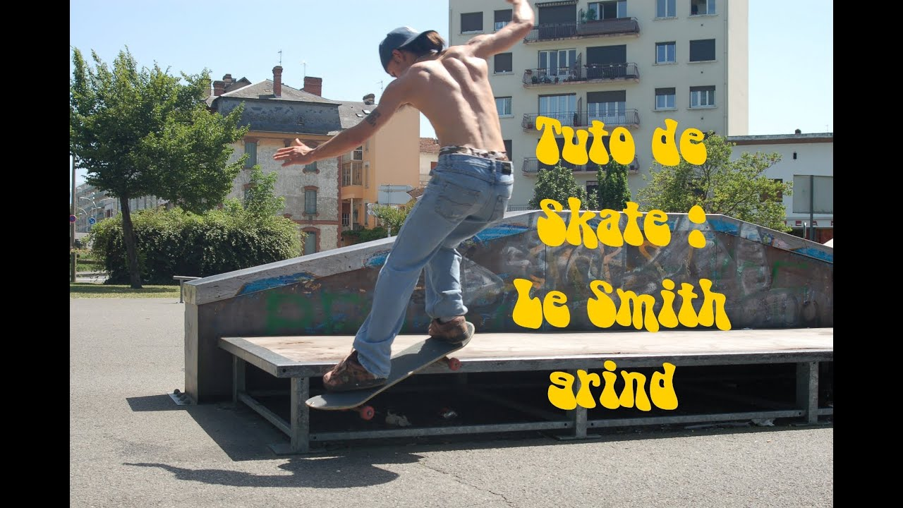 Tuto de skate comment faire un fs smith grind youtube - Comment faire du skateboard ...