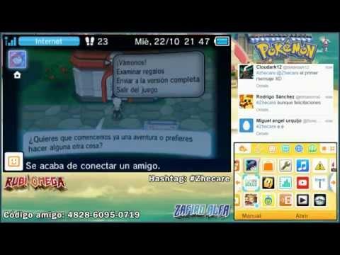 Sorteo 4 códigos Demo americana de Pokémon Rubí Omega Zafiro Alfa