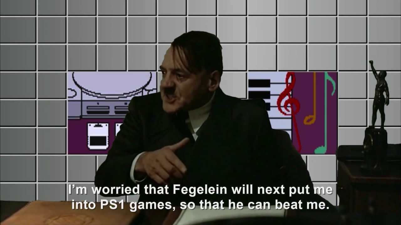 Hitler is informed he's on the PlayStation 1
