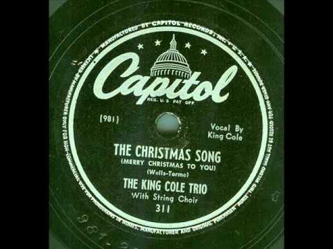 King Cole Trio - The Christmas Song (original 78 rpm, second recording)