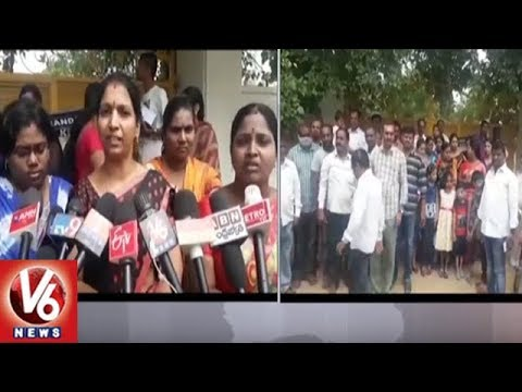 Parents Protest At New Century School Over CBSE Syllabus Schools | Hyderabad | V6 News