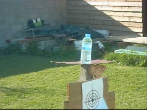 Air Rifle Norica Dragon Firing Slow Motion