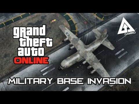 GTA 5 Online Titan Cargo Plane Gameplay - A Military Base Invasion (Grand Theft Auto V)