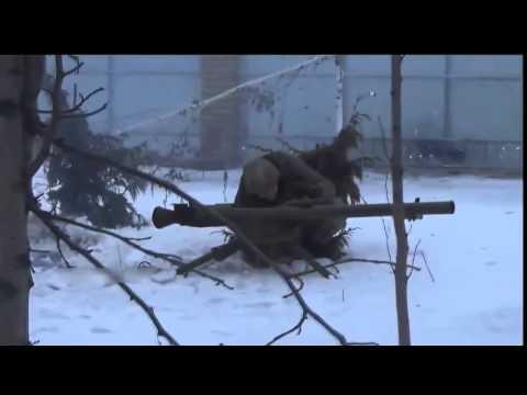 Ukraine War   Ukrainian soldiers shooting SPG 9 at pro Russian rebels