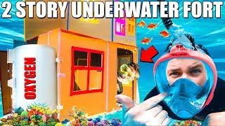 2 STORY UNDERWATER BOX FORT CHALLENGE!!
