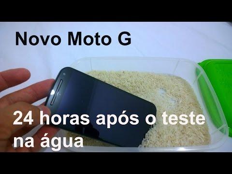 Novo Moto G 24 horas após o teste da água