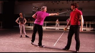 Romeo and Juliet sword-fight rehearsal (The Royal Ballet)