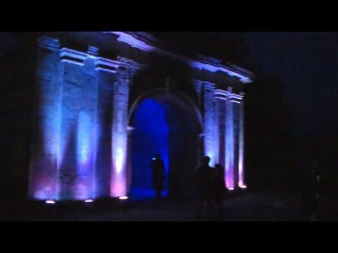 Херсон. Петербургские ворота. Ночная подсветка.
