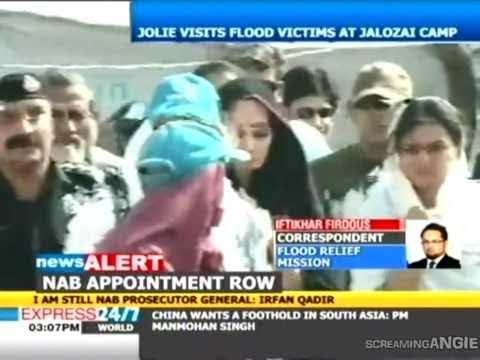 ANGELINA JOLIE VISITS FLOOD IN PAKISTAN