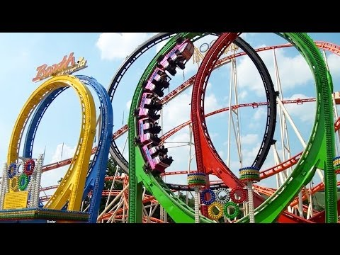 Olympia Looping POV Largest Most INTENSE Traveling Roller Coaster Ever Built