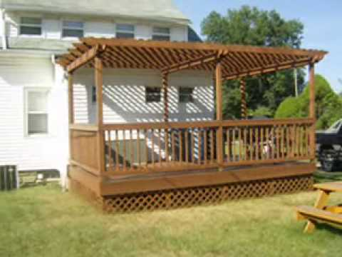 Deck With Pergola Arbor Construction Youtube