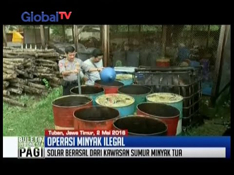Polisi berhasil amankan 3,5 ton BBM solar ilegal di sepanjang jalur Pantura, Tuban - BIP 03/05