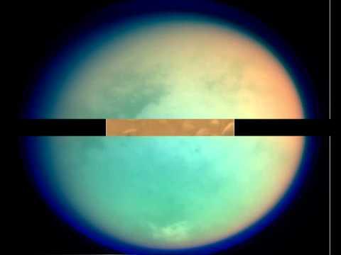 Titan moon Saturn. Титан - спутник Сатурна.