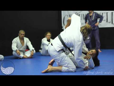 Groundswell Grappling Concepts Coed Camp Hannette spider guard sweep Image 1