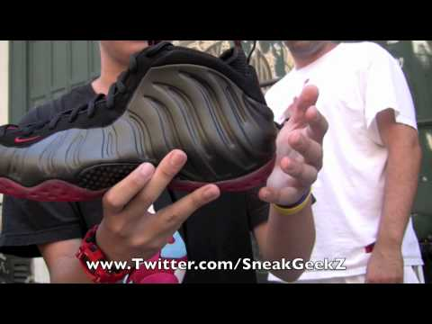 Nike Foamposite Black Varsity Red Cough Drop