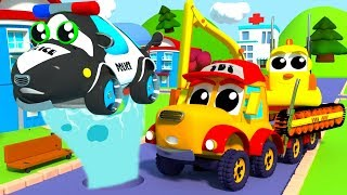MIGHTY MACHINES REPAIRING A WATER PIPE - RHYMES COMPILATION FOR KIDS