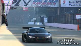 Audi R8 LMS Supercharged 700hp - insane downshifts and Capristo exhaust