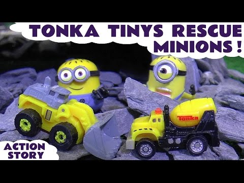 Minions Accident - Tonka Tinys help Paw Patrol Toys & Thomas and Friends Toy Train in Rescue  TT4U