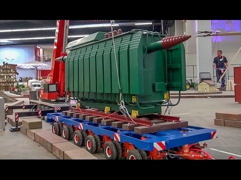 RC truck crane lifts a transformer! ! BIG 1:8 scale R/C model!