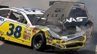 NASCAR Ryan Newman and David Gilliland Fight After Crash!! Dover 2013