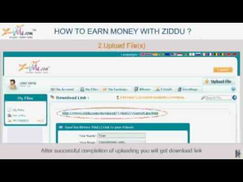 How To Earn Money With Ziddu video