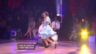 Julianne Hough & Cody Linley dancing the Jitterbug