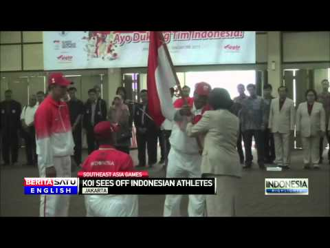 Indonesian Athletes Head to Singapore for the Southeast Asia Games