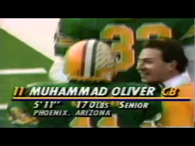 Oregon Cb Muhammad Oliver intercepts a deep pass vs. Stanford 11-02-1991