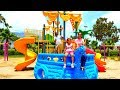 Esma and Asya child park play with  PlayShip for kids video