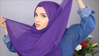 Hijab Styles for Chubby Cheeks | How to create slim face using hijab