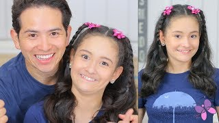Hairstyles with Dad! | Hairstyles for Girls | Cute Hairstyles | Ep.1