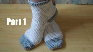 (crochet) Pt1: How To Crochet Adult Socks - Yarn Scrap Friday