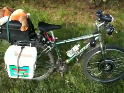 Homemade DIY Bicycle Bucket Panniers
