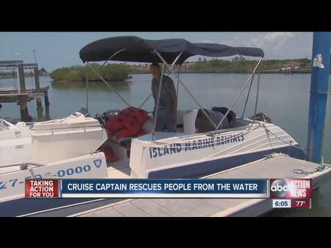 Thirteen people rescued after 26' rental boat begins sinking in intracoastal waterway